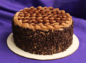 Chocolate Chip Decadence Cake from Sugar Plum Bakery