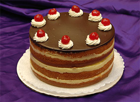 Boston Cream Cake from Sugar Plum Bakery