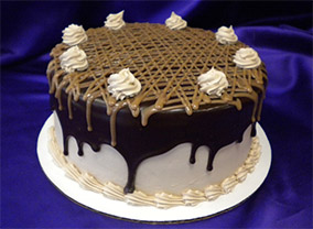 Chocolate Caramel Fusion Cake from Sugar Plum Bakery