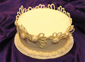 Snow Angel Cake from Sugar Plum Bakery
