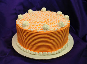 Creamsicle Cake from Virginia Beach Bakery.